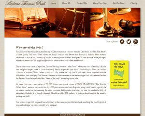 website design for andrew thomas ball
