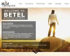 website design for betel church