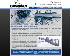 website design for bowman engineering