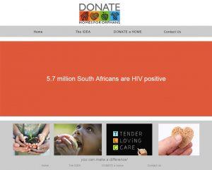 website design for donatehomesa