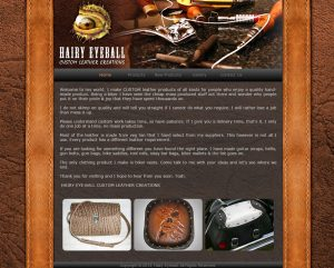 website design for hairy eyeball