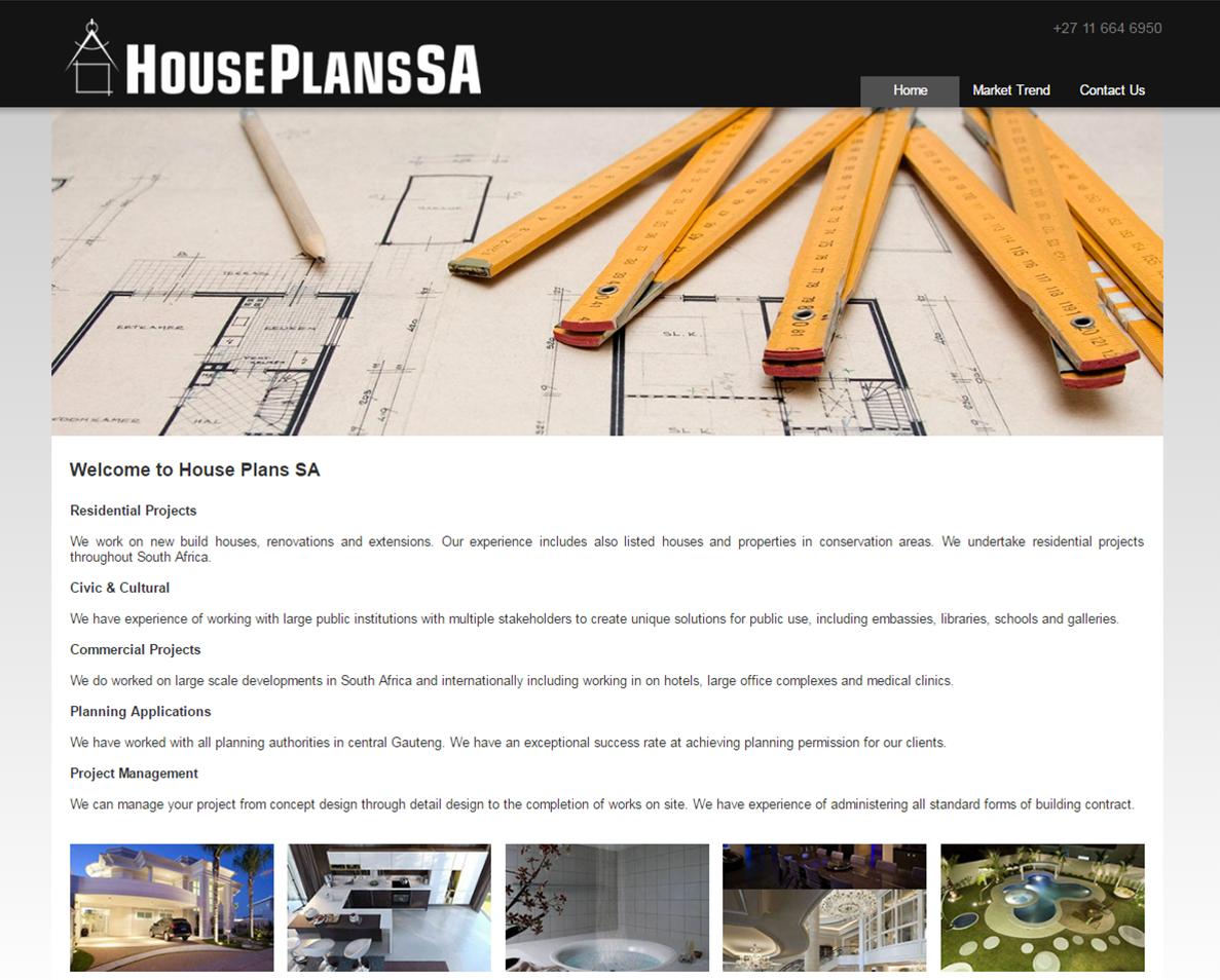 website design for houseplansa