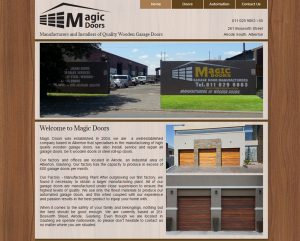 website design for magic doors