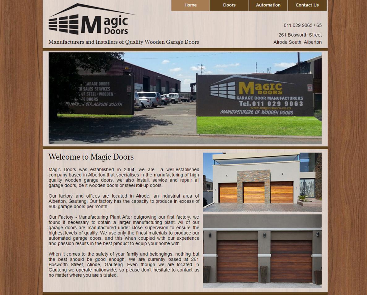 website design for magic doors