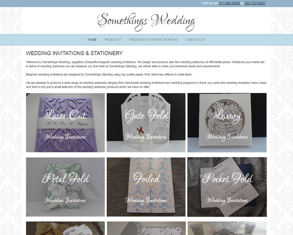 website design for somethings wedding
