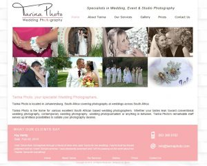 website design for tarina photo