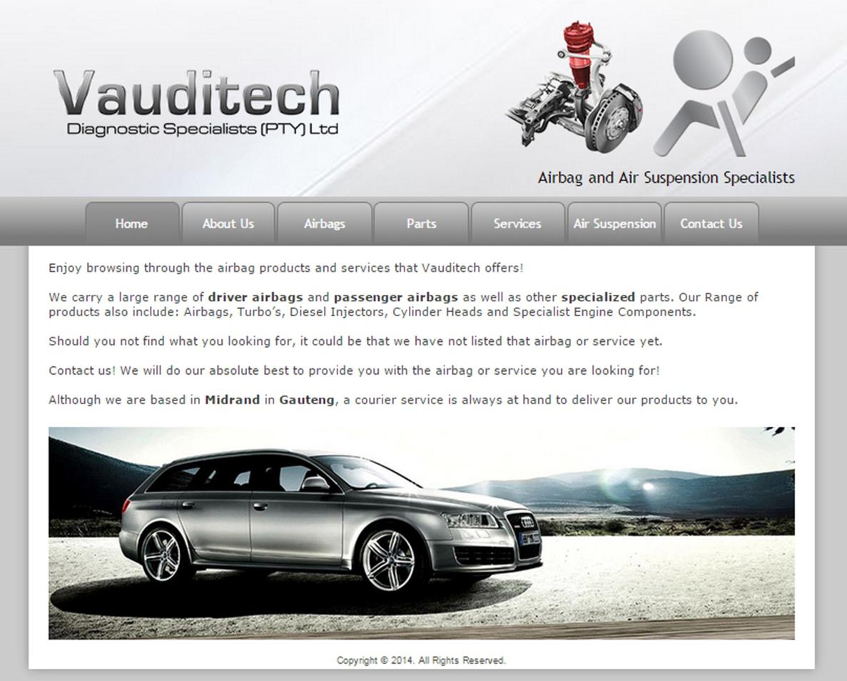 website design for vauditech