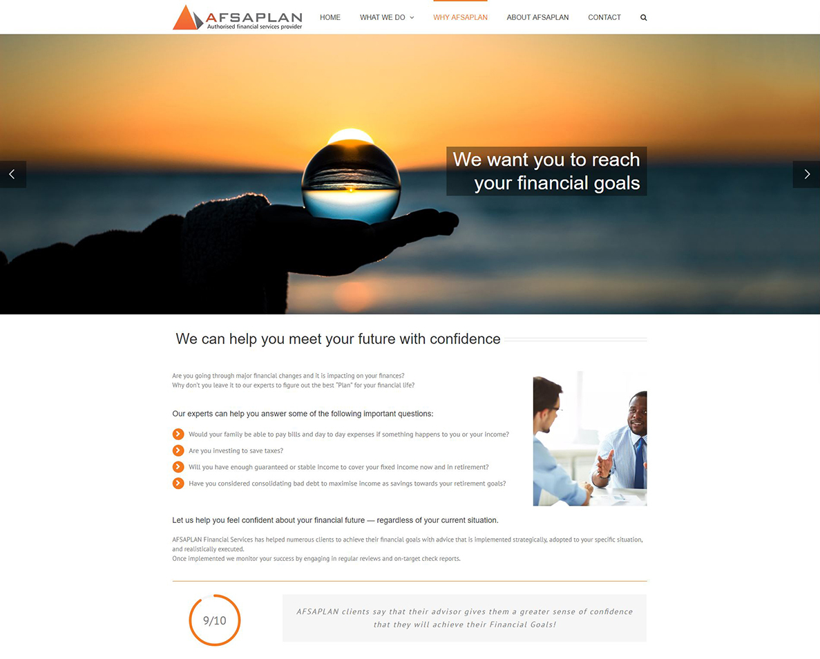 website design for afsaplan