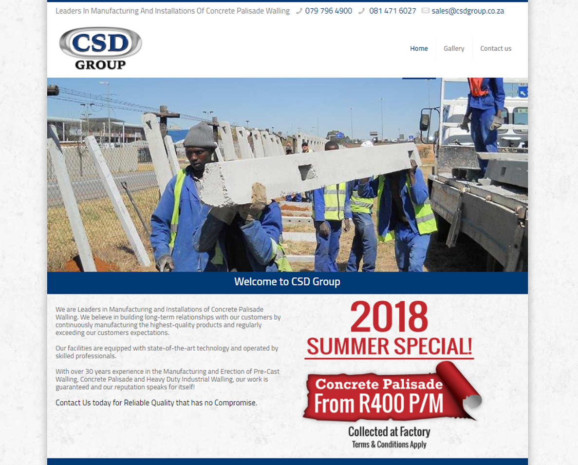website design for csd group