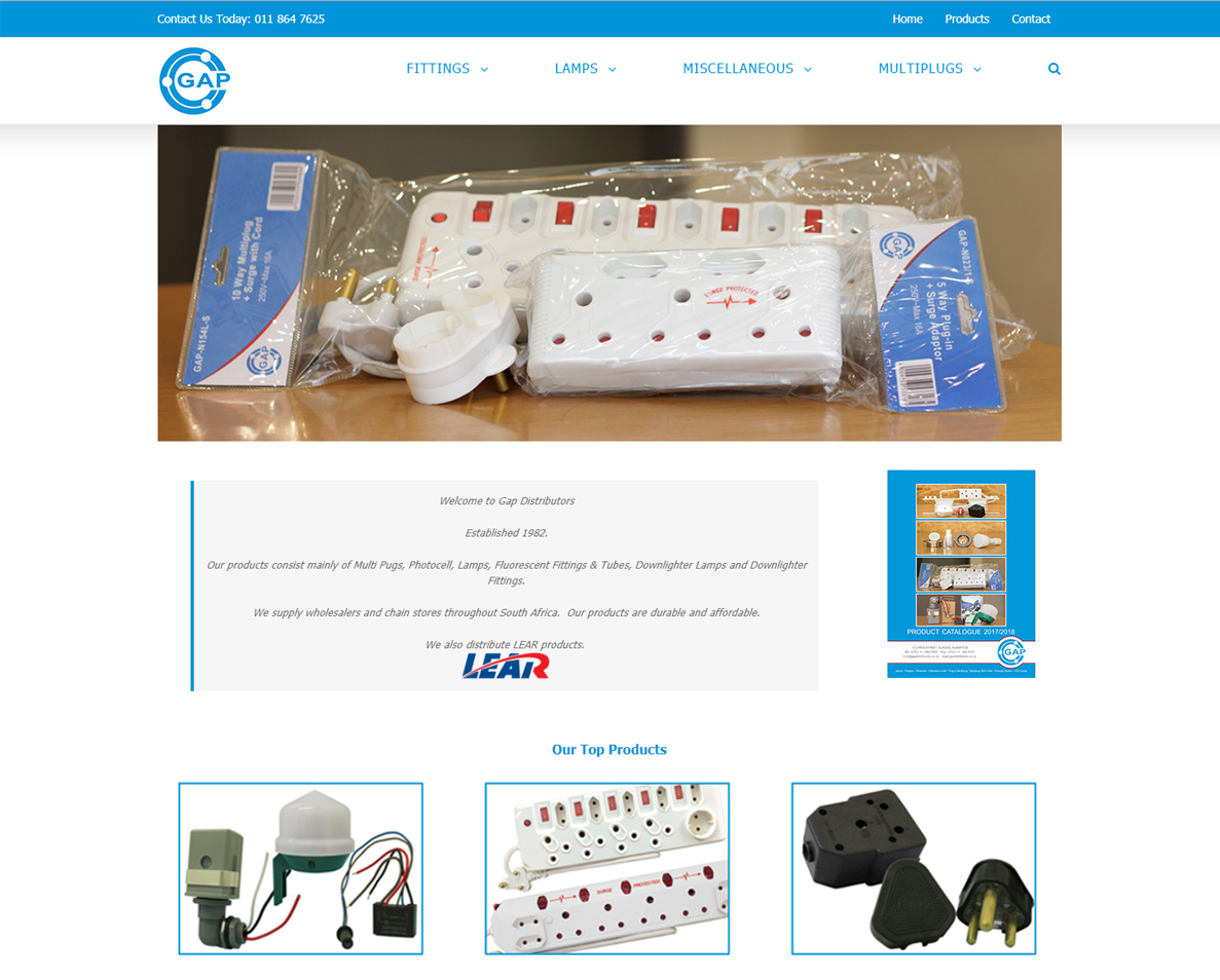 website design for gap distributors