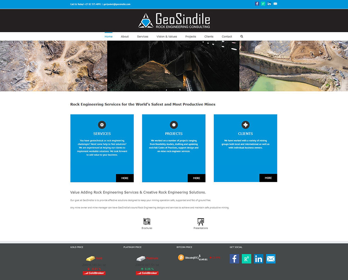 website design for geosindile
