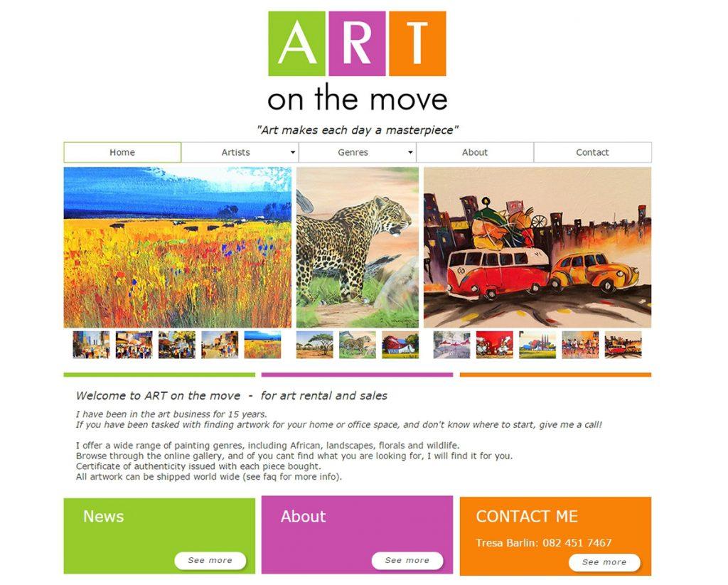 website design for artonthemove