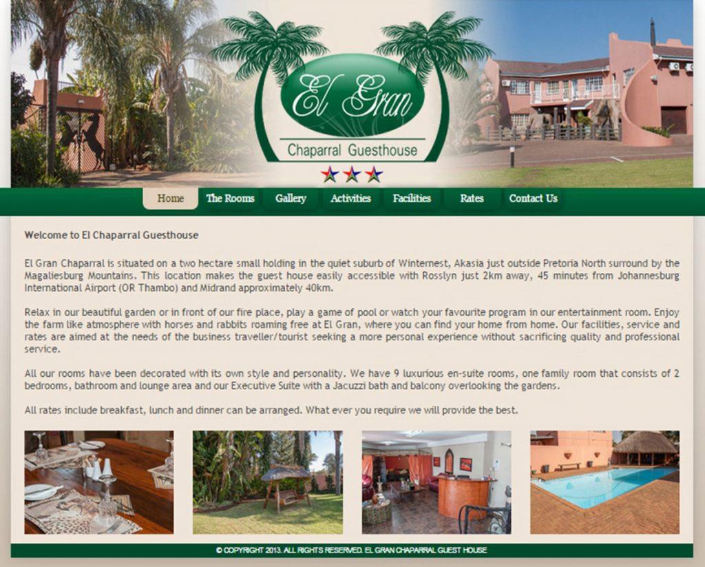 website design for el gran chaparral