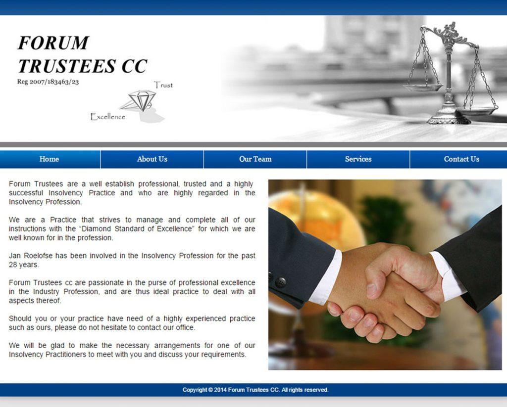 website design for forum trustees