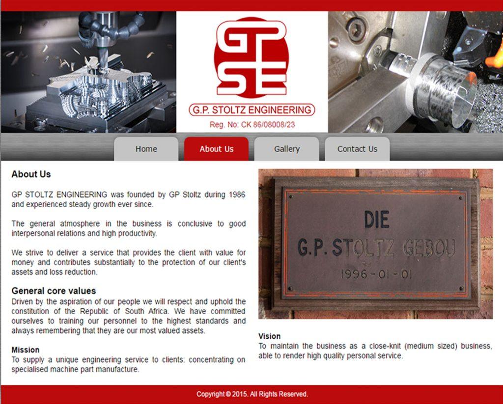 website design for gps engineering