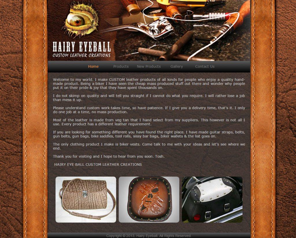 website design for hairy eyeball