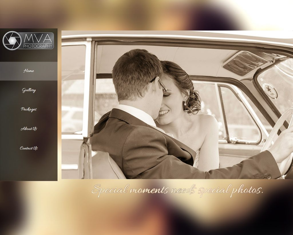 website design for blackmirror photography