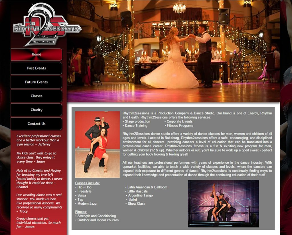 website design for r2sessions