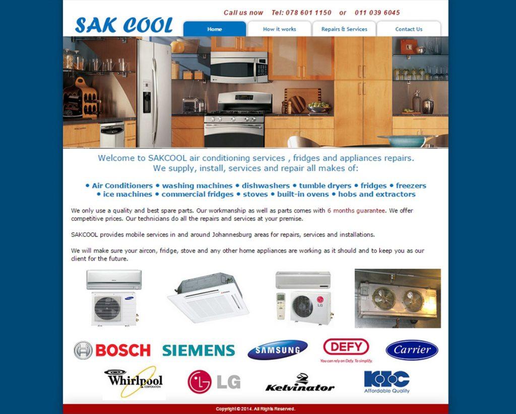 website design for sak cool