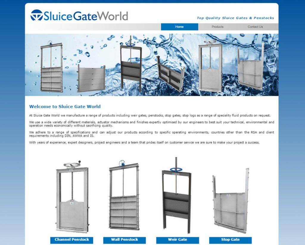 website design for sluicegate world