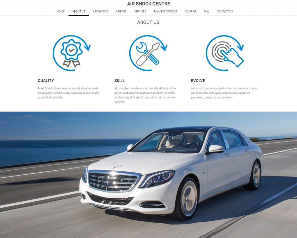 website design for air shock centre