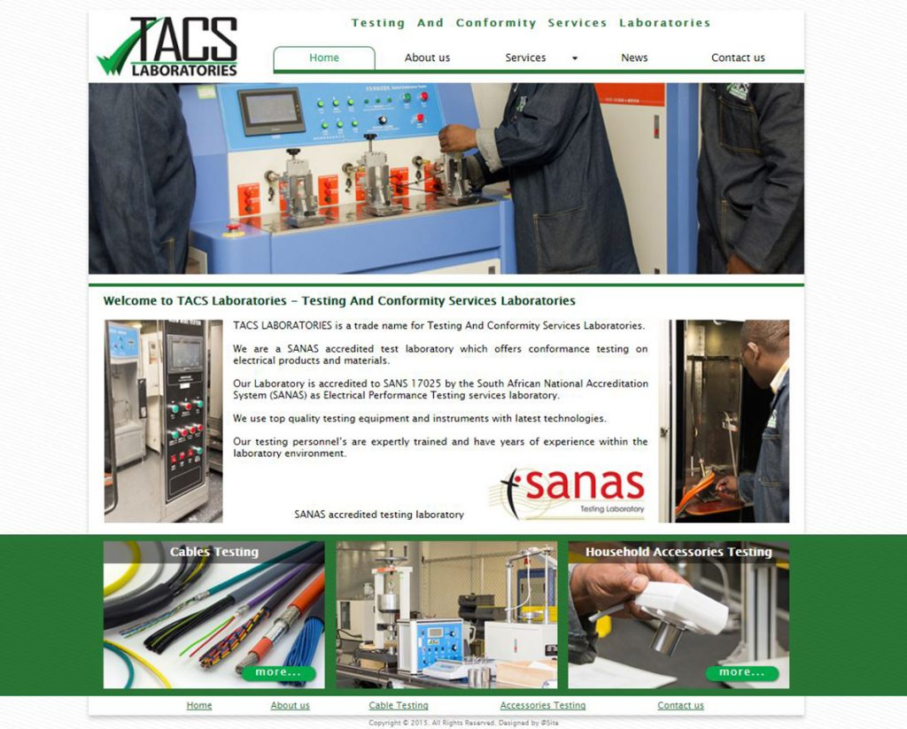 website design for tacs lab